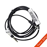 iMotor Headphone Cable Remote Control Cord Upgrade Wire for Sennheiser Momentum On Ear/Over Ear 1.0 2.0-1.4M 4.5ft OFC Replacement Line for Phone Computer Walkman(Black)