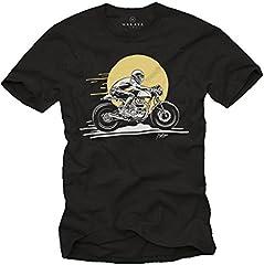 Cafe Racer Accesorios Moto - Enfield GT - Camiseta Motero Hombre