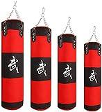 GXBCS Punching Bag Sacos Pesados Saco De Boxeo Bolsas de Tela Oxford para Entrenamiento de Equipos de Kickboxing con Sacos de Arena GXBCS0720(Color:Red;Size:120cm)