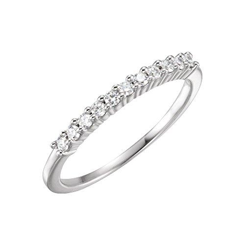 Anillo de diamantes en bruto de platino 1/5CT - tamaño L 1/2 - JewelryWeb