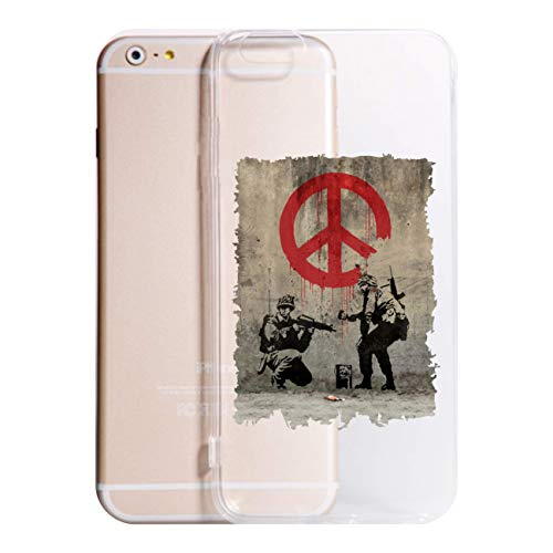 Cover compatibile con Tutti i Modelli iPhone -Peace- Trasparente UltraSottili AntiGraffio Antiurto Case Custodia (IPHONE 11 PRO MAX, TRASPARENTE)
