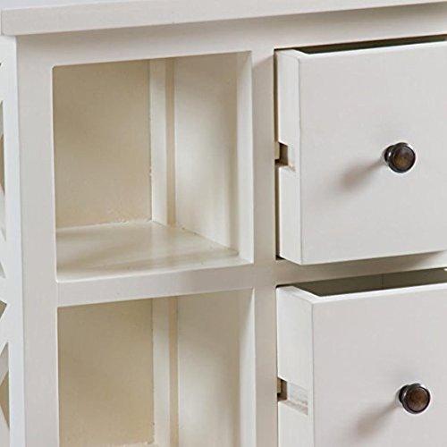 Mueble blanco de 4 cajones - Colección Franklin by Craftenwood