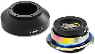 NRG-SRK-150H+280BK-MC, NRG Innovations Steering Wheel 6-Hole Aluminum Ball Bearing Short Hub Adapter with Gen 2.8 Neo Chrome Black Quick Release SRK-150H