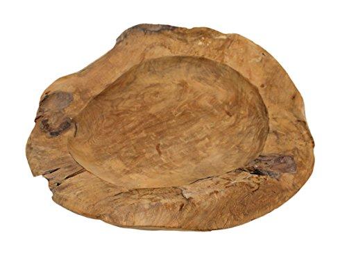 Unieke teakhouten schaal teakhouten schaal teak schaal fruitschaal houten schaal houten schaal wortel massief natuur Ø 20cm 30cm 40cm 50cm 60cm (Ø40cm)
