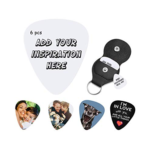 Personalized CustomGuitar Picks - Full-Color Custom Guitar Picks with Your Photo or Design. Durable Material with Detailed Print. Great Gift for Any Musician.6 PCS-Thickness(0.96mm)