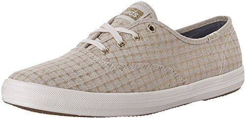 Keds Ch Foil Ticking Dot, Zapatillas de Entrenamiento Mujer, Hueso (Natural), 38 EU