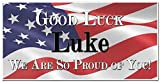 Good Luck Going Away Military Banner Personalized Party Backdrop Decoration