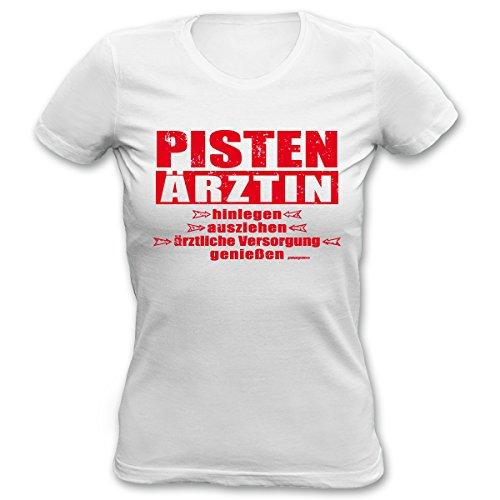 Lustiges Apres Ski Party T-Shirt für Damen - Pisten Ärztin! Hinlegen, ausziehen. - Girlie Shirt für Ski und Snowboard!