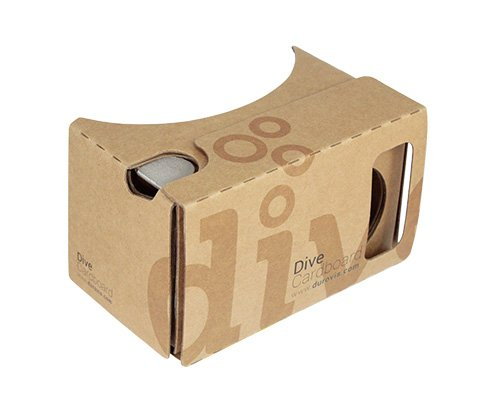 Durovis Dive Cardboard 6 - braun - Virtual Reality Headset Inspired by Google Cardboard V2