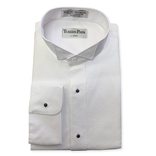 White Pique Tuxedo Shirt (3X-Large / 19-19.5