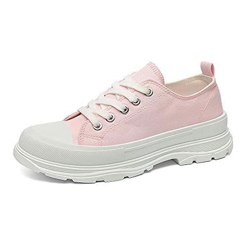 JOMIX Scarpe Casual Donna Estive Tela Antiscivolo Sneakers Estate Scarpe Donna SD2664 (01 Rosa, 39)
