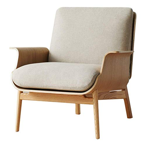 N/Z Home Equipment Nordic Einzelsofa Massivholz Freizeit Licht Designer Home Wohnzimmer Stoff Rückenlehne Lazy Chair