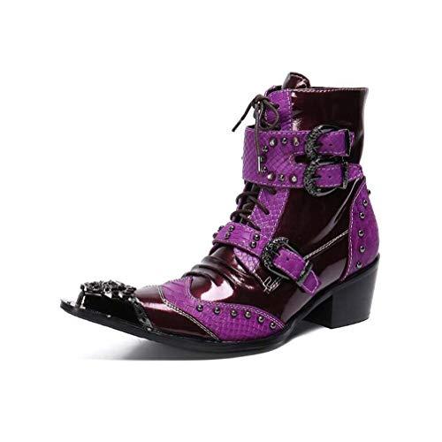 Men's Fashion Boots Leather Boots, Herfst en Winter Casual, Britse Boots Warm laarsjes, enkellaarsjes Gradient, bureau, carrière, Combat Boots