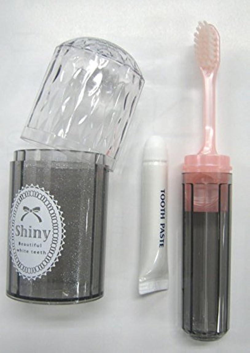 シャーク抜け目がないバレルShiny(シャイニー) ダイアカットハブラシセット 歯磨き粉付き