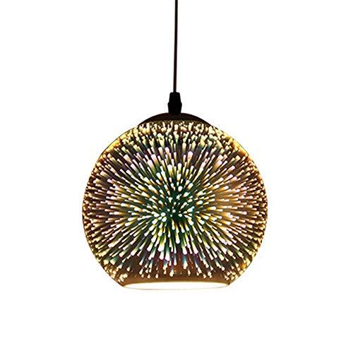 Plafondventilatoren, creatieve hanglampen, 3D-bontglazen bol, kroonluchter, decoratieve lampen voor restaurant, cafe, bar, kledingwinkel, A diameter 30 cm