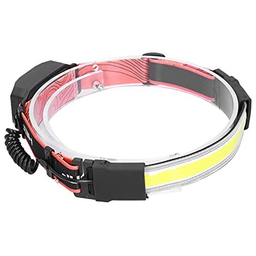 JYLSYMJa Linterna Frontal LED COB, 3 Modos de luz, lámparas para Acampar, Accesorios de iluminación Nocturna con Ahorro de energía, Faros para Pesca al Aire Libre, para Correr