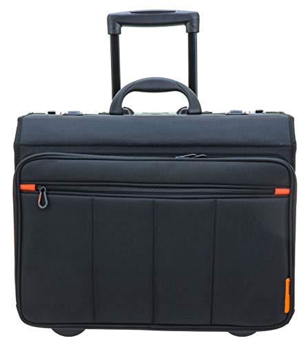 Pilotenkoffer Aktenkoffer Laptop Dokumenten Trolley 47cm Schwarz Davidts Bowatex
