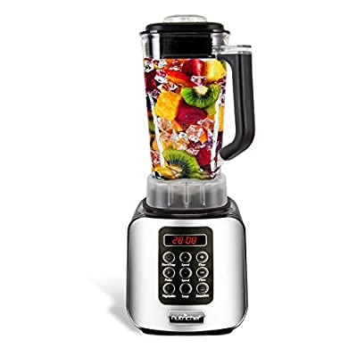Digital Electric Kitchen Countertop Blender - Professional 1.7 Liter Capacity Home Food Processor Compact Blender for Shakes and Smoothies w/ Pulse Blend, Timer, Adjustable Speed - NutriChef NCBL1700