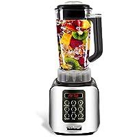 NutriChef 1.7 Liter Capacity Digital Electric Kitchen Countertop Blender