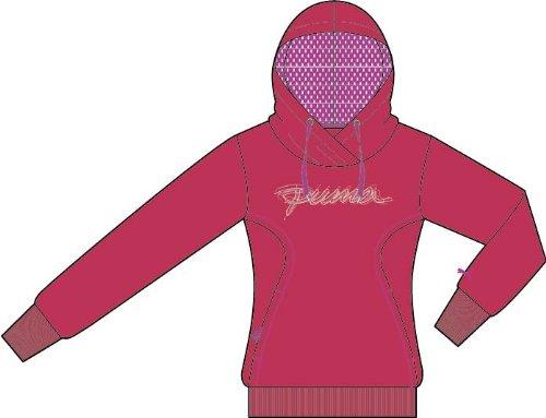 PUMA Sweatshirt - Sudadera para Mujer, tamaño L, Color Teaberry Red - Rose Violeta