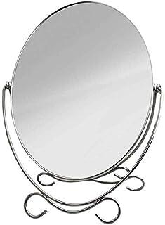 Asdfnfa Makeup Mirror Desktop HD Metal Vanity Mirror Wedding Simple Retro Cosmetic Mirror (Color : A)