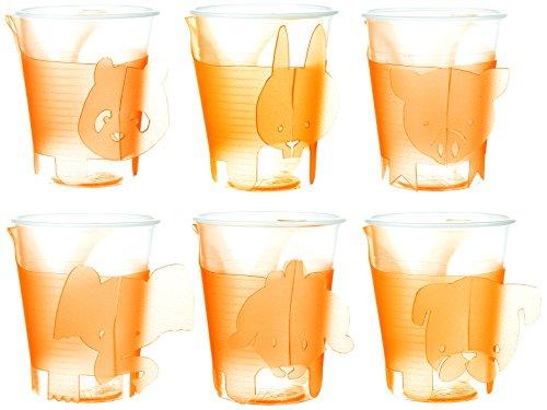 e-my 54170045 6-er Set Becherhalter Smartpet Party Animals