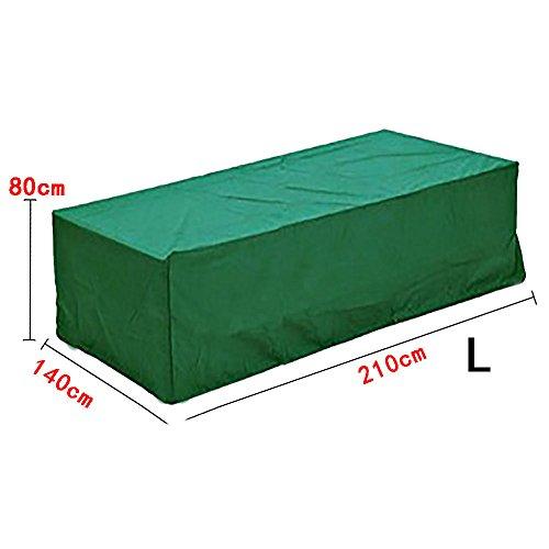 logei Waterproof Outdoor Rain Cover For Rattan Cube Garden Furniture Heavy Duty, Dark Green,210x140x80cm