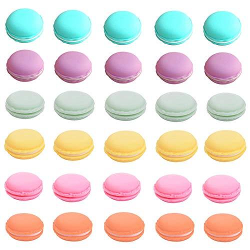 HAN SHENG 30 Pcs Cute Macaron Mini Storage Case Jewelry Box Case Container Earring Travel Organizer (Multicolor)