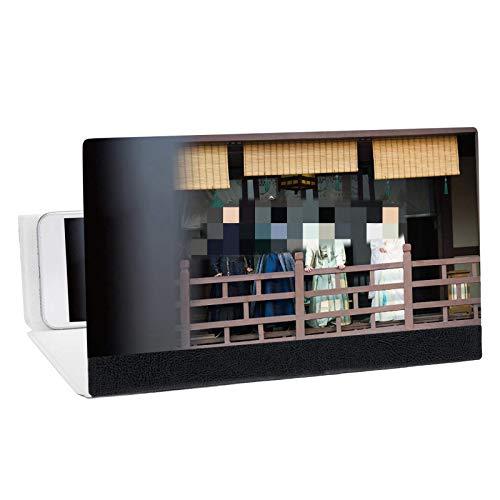 Amplificador de pantalla móvil de 12 pulgadas 3D para pantalla del teléfono lupa de vídeo de película, soporte de teléfono para películas, vídeos y juegos (tamaño: 12 pulgadas, color: negro)