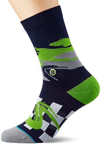 Stance Seahawks Wave Racer Calcetines, Hombre, Azul Marino, Small
