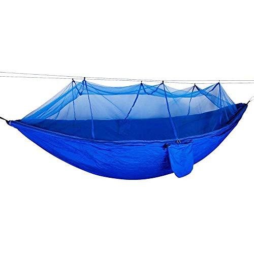 Hangmat met klamboe, draagbare camping trip Hangmatten bed met klamboe, camping hangmat,Blue