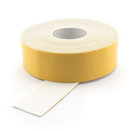 GleitGut Filzband selbstklebend Weiss Länge: 1 m Filzklebeband Meterware Breite: 50 mm Stärke: 3 mm Filzstreifen