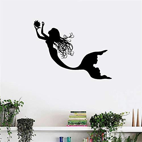 pegatina de pared pegatina de pared 3d Under The Sea Mermaid Girl Nursery Room Art Mural Cartel de la pared para el cuarto de niños sala de niños