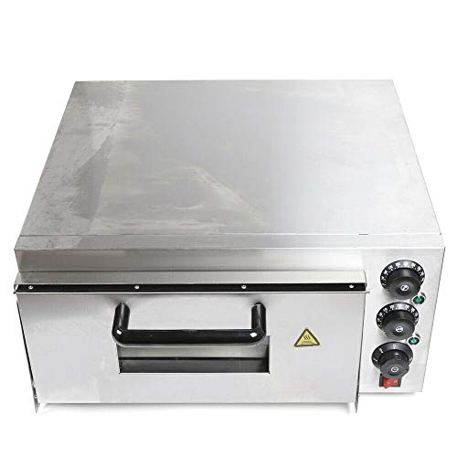 Commerial Pizza Oven Countertop Convection Toaster Oven 2 KW Electric Digital Microwave Drawer Oven Pizza Maker For Kitchen Cake Bread Pizza Baking Machine(Stainless Steel)