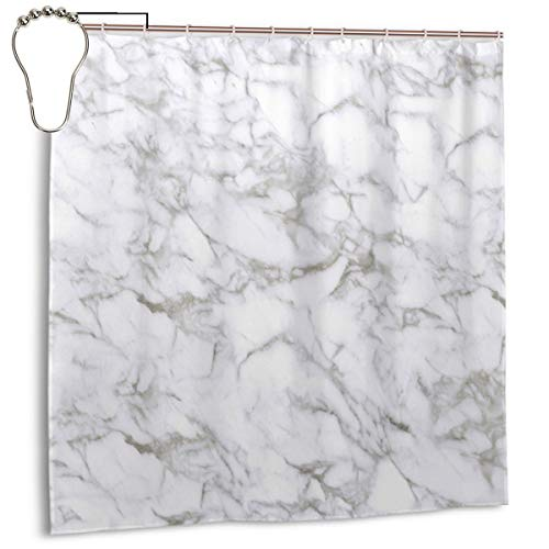 LarissaHi Beige Carrara Marmor Calacatta Weiß Stein Fliesen Design Braun Digital Kalkstein, Home Decoration Duschvorhang 72inX72in