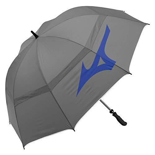 Mizuno 68' Tour Vented Double Canopy Golf Umbrella - Grey/Blue - OS