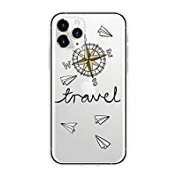 KANLX 世界地図旅行飛行機for iPhone 用クリアTPU電話カバー1211 Pro X XR Xs Max 10 5 5S se 2 2020 6 6s 7 8Plus耐衝撃ケース-5zfeiji-for iPhone Xs Max