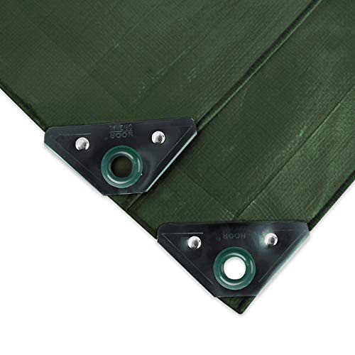NOOR Abdeckplane SUPER 200g/m² Grün I 2 x 3 m I Allzweckplane für Schutz vor Witterung I Ideal geeignet für den Gartenbereich I UV-stabilisiert, beidseitig beschichtet, wasserfest & abwaschbar