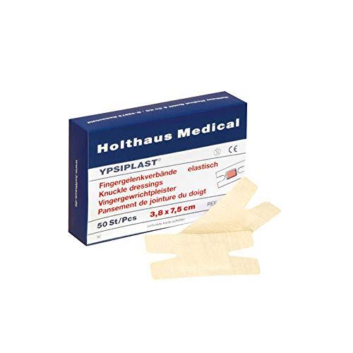Holthaus Medical YPSIPLAST® Fingergelenkverband Pflaster Wundverband Finger, elast, 3,8x7,5cm, 50St