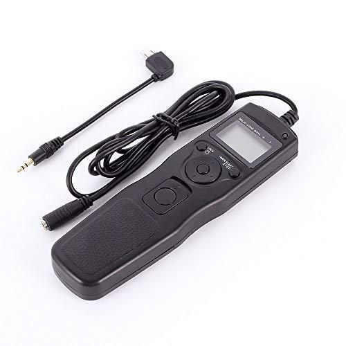 Ruili - Cable de disparador con temporizador LCD para Sony A7R2 A7S A7M A63000 A7 A7S A7M2 NEX-3N A6000 A5000 A3000 A58 RX100II RX100M2 RX100M3 HX50 HX60 HX400 HX300