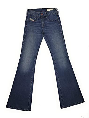 Diesel Damen Jeans Hose Livier-Flare Super Slim-Flare Low Waist Women Jeanshose RI806 Stretch (W24 / L30)
