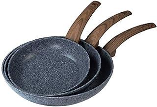 Thulos Juego de 3 sartenes, Ø20-Ø24 Y Ø28 cm, Revestimiento Granito TH