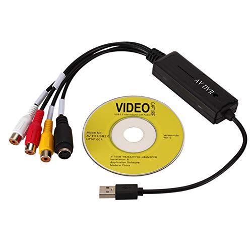 GeKLok Adaptador multifunción USB 2.0 del juego de la tarjeta de captura de vídeo de transmisión en vivo del convertidor