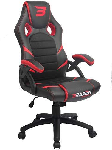 BraZen Puma PC Gaming Chair - Red