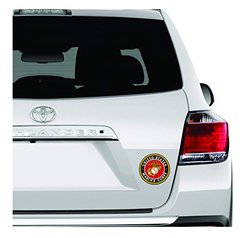 United States Marine Corps Sticker - USMC Decal US Military Stickers for Car/Truck Windows, 4 inches Military Car Decals.