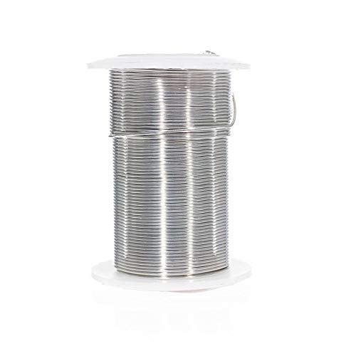 Craft County Tarnish Resistant Copper Craft Wire – for Jewelry Making, Ornament Crafting, and Wire Sculptures (Silver, 30 Yards X 24 Gauge)