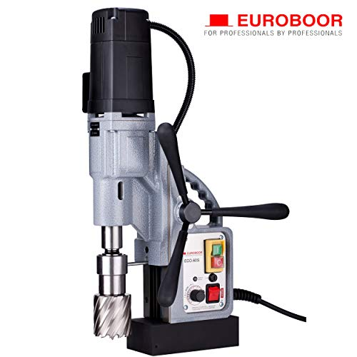 Lowest Price! EUROBOOR Magnetic Drill Press - 1600W / 14.5A Portable Drilling Machine with 2-3/8 An...