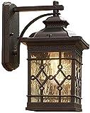 dh-19 Aplique de Pared de Aluminio anticorrosión, Farol de Pared Antiguo Chino, Lámparas de Pared para Exteriores de Vidrio Transparente, Focos