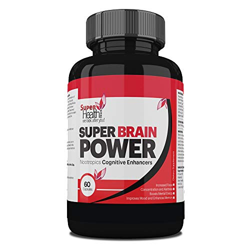 PTSD Relief ** Super Brain Power ** | Stress Relief Tablets | Works for PTSD - Chronic Fatigue Syndrome | Chronic Pain Syndrome | Natural Anxiety & Stress Relief Capsules | 60 Capsules