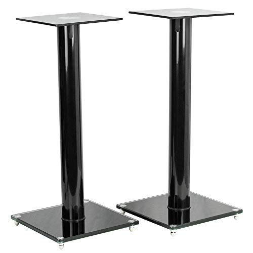VIVO Premium Universal 23 inch Floor Speaker Stands for Surround Sound and Book Shelf Speakers (STAND-SP02B)